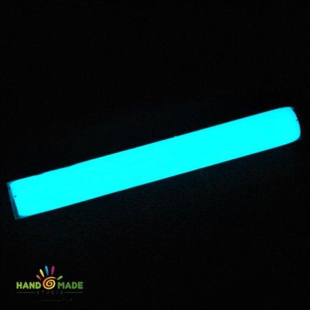 Полимерная глина пластишка фосфоресцентная бирюзового свечения, 17г, 0502