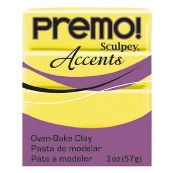Полимерная глина Premo Accents белый полупрозрачный, 5527