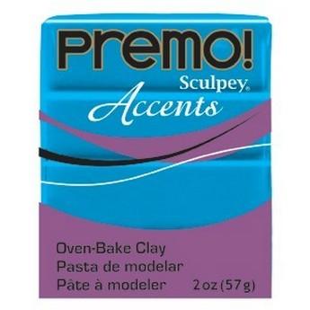 Полимерная глина Premo Accents красный полупрозрачный, 5044