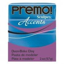 Полимерная глина Premo Accents красный с глиттером, 5051