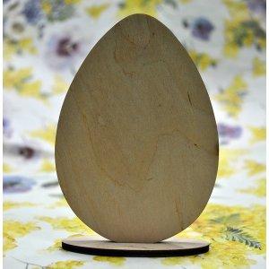 Деревянная заготовк Яйцо на подставке, 12х8,5 см