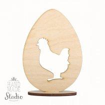 Деревянная заготовка Яйцо и курочка на подставке, 12х8,5 см
