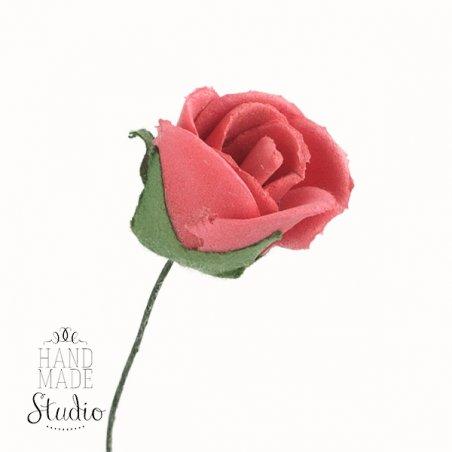 Маленькая розочка, цвет красный, 4 см