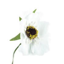 Цветочек из ткани, цвет - белый