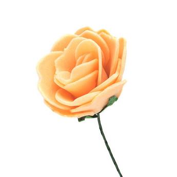 Маленькая розочка, цвет персиковый 2,5-3 см