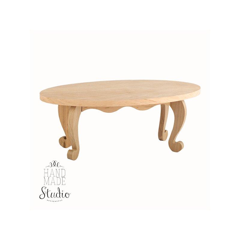 Столик кукольный деревянный овальный