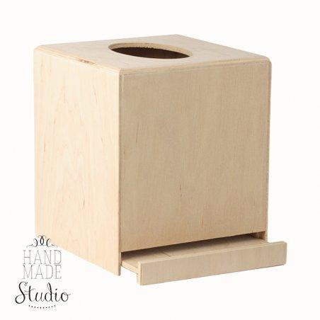 Салфетница с выдвижным дном квадратная, 14,5х12,5х12,8 см