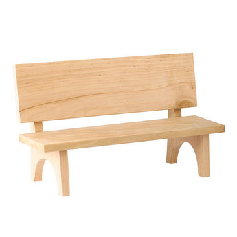 Скамья кукольная деревянная сплошная