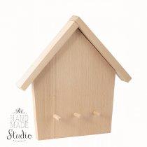 Ключница домик №3 с держателями