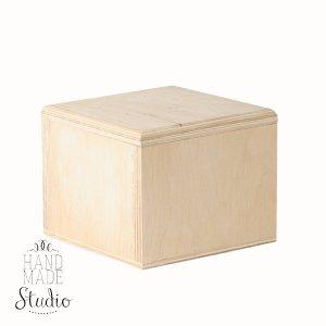 Шкатулка деревянная квадратная №2, 10х10х8 см