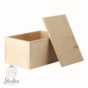 Шкатулка деревянная прямоугольная №1, 11,5х6,5х7 см