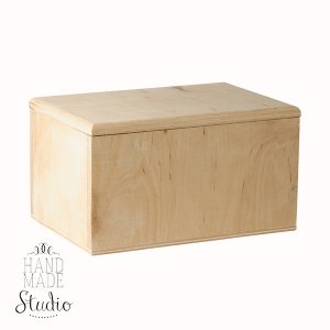 Шкатулка деревянная прямоугольная №4, 18х12х10 см