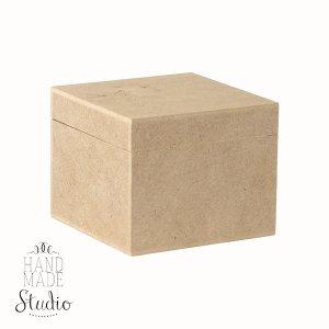 Шкатулка квадратная №2 на петлях, 10х10х8 см