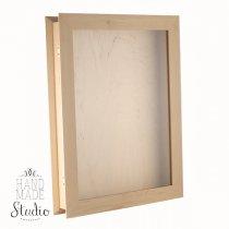 Шкатулка прямоугольная со стеклом, 30х40х6см