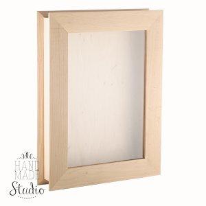 Шкатулка прямоугольная со стеклом А4, 35х25х6см