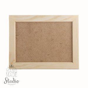 10х15 см Деревянная рамочка  со стеклом, ширина рамки - 2 см