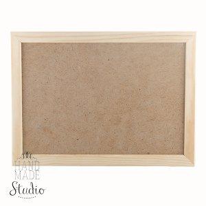 15х20 см Деревянная рамочка  со стеклом, ширина рамки - 2 см