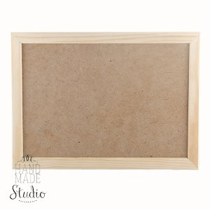 20х30 см Деревянная рамочка со стеклом, ширина рамки - 2 см