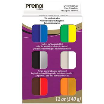 Набор полимерной глины Premo Sculpey, 12 цветов по 28г