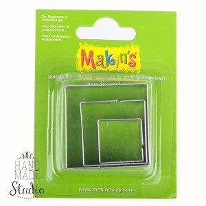 Каттеры для глины Makin's, квадраты