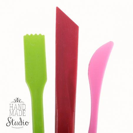 Набор из 3 пластиковых инструментов