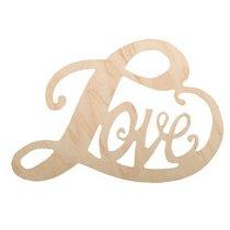 Деревянная заготовка Сердце Love, 16х11 см