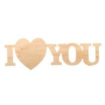 """Слово """"I Love You""""  большое, 29,5х6,5 см"""