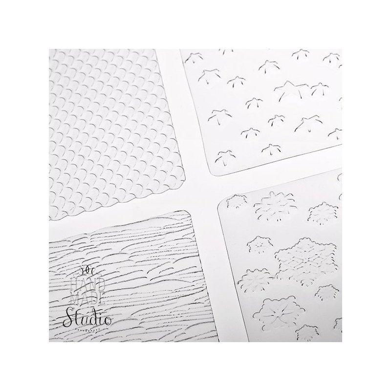 Текстурные листы для глины Makin's (Набор А)