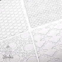 Текстурные листы для глины Makin's (Набор С)