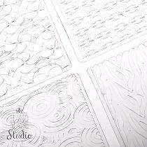 Текстурные листы для глины Makin's (Набор H)