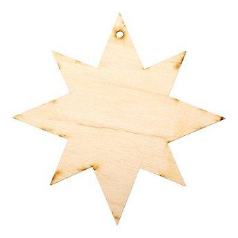 Деревянная заготовка Звезда остроконечная