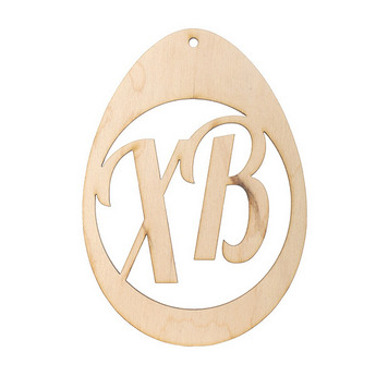 Деревянная заготовка Яйцо ХВ №3, 12х8,5 см