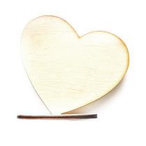 Деревянная заготовка Сердце на подставке, 10х10 см