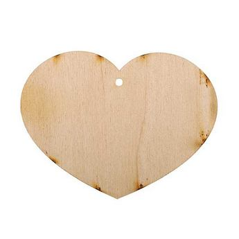 Деревянная заготовка Сердце №5, 7,5х9,5 см