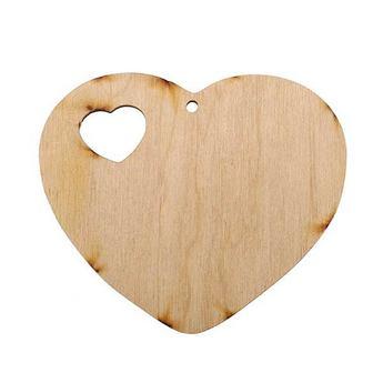 Деревянная заготовка Сердце в сердце