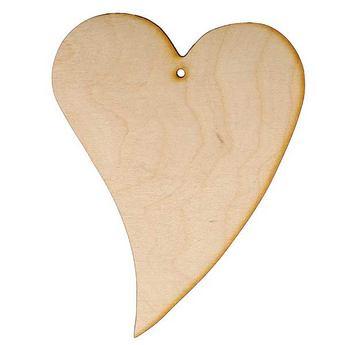 Деревянная заготовка Сердце выгнутое