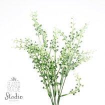 Декоративная веточка с бело-салатовым цветом