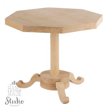 Столик кукольный деревянный восьмиугольный