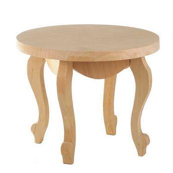 Столик кукольный деревянный круглый