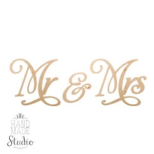 "Надпись ""Mr & Mrs"""