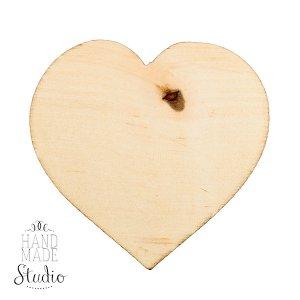 Заготовка деревянная Сердце с магнитом