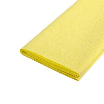 Бумага крепированная, цвет - желтый, Украина