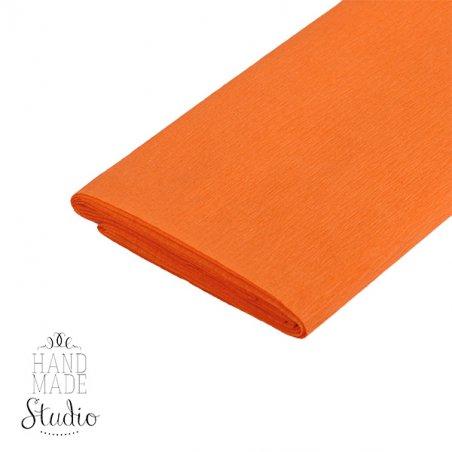 Бумага крепированная, цвет - оранжевый, Украина