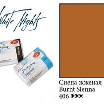 Краска акварельная, Сиена жженая, 2,5мл. Белые ночи