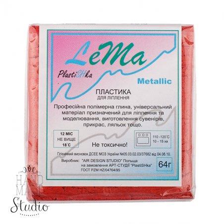полимерная глина пластишка Lema металлик, красный металлик №0308, 64 г