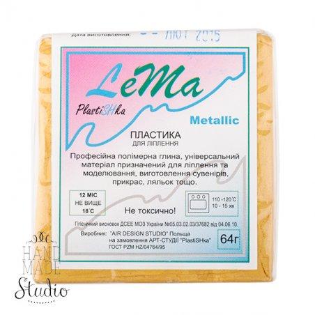 полимерная глина пластишка Lema металлик, светлое золото №0304, 64 г