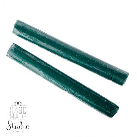 полимерная глина пластишка Lema глиттер, зеленый №0409, 17 г