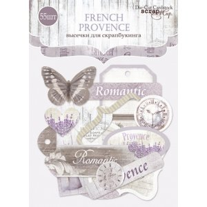 """Набор высечек для скрапбукинга """"French Provence"""" 55 шт"""