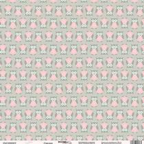 "Лист односторонней бумаги 30x30 ""Совушка из коллекции Baby Girl"",190г/м2, 1 лист"