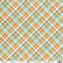 """Лист односторонней бумаги 30x30 """"Клетка из коллекции Такие Мальчишки"""", 190г/м2, 1 лист"""